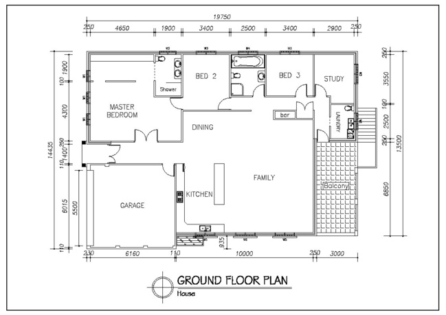 Image gallery autocad house for House 2d plans