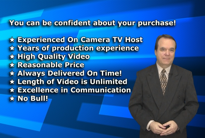 be your professional video SPOKESPERSON in hd