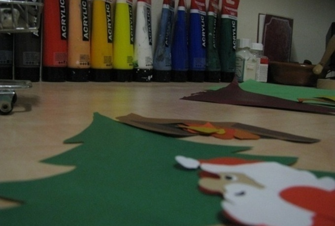 give you my handmade paper animation Christmas greetings video