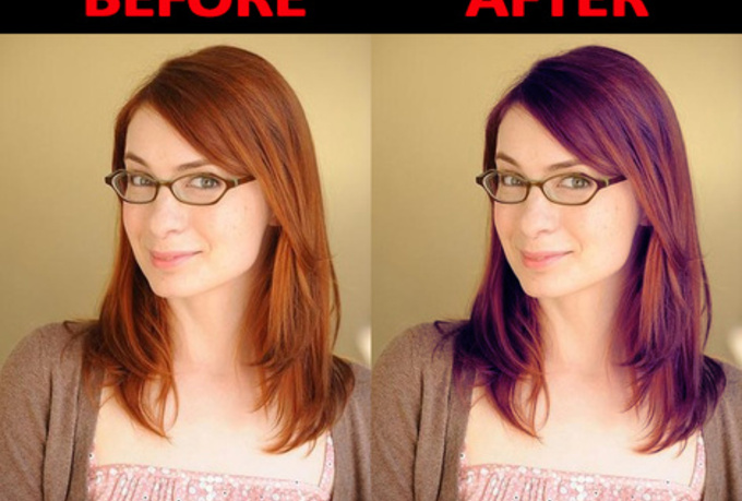 Hairstyle Change : change your HAIR color using photoshop in a way that people will go ...