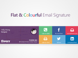 provide you a flat colorful or single color email signature within 1 day
