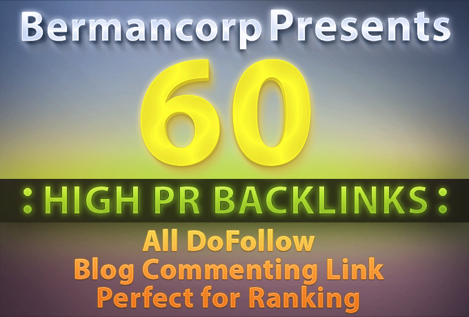 make 60 high PR blob comment backlinks all do follow PR6 To PR3 backlinks