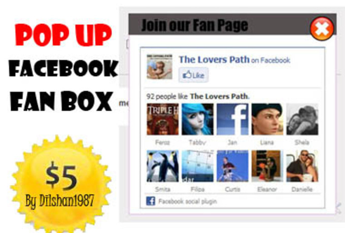 add a Pop Up Facebook Fan Page to your Blogger Blog within a day