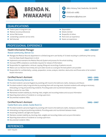 most professional looking resume