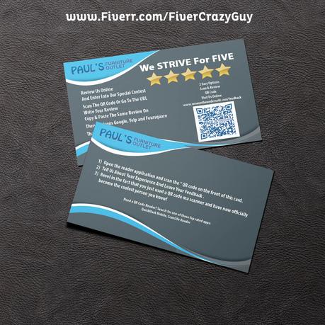 Design a professional business card fiverr for Fiverr business cards