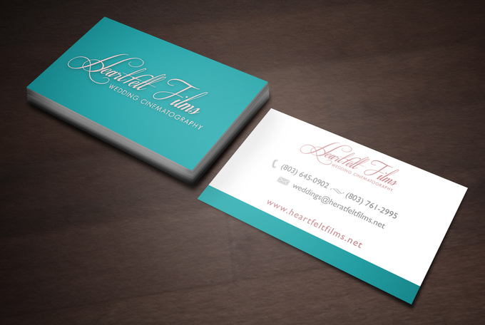 double sided business card template - Vertom