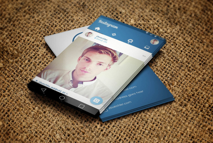 convert your instagram profile into business card fiverr