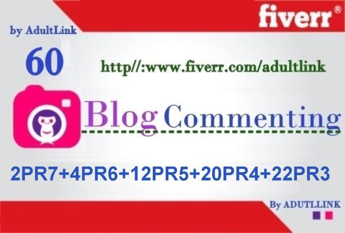 make  60 manual Dofollow Blog Comment  Actual Page Rank 7 To 3