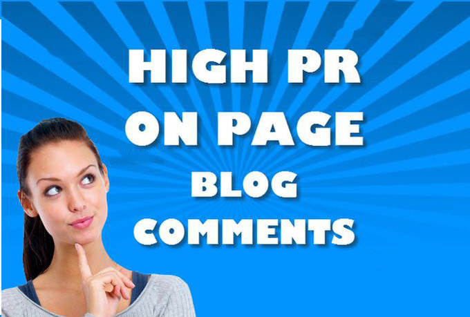 do 50 Manually Blogs Comments with PR 2 to PR6