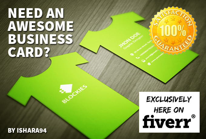 Design an awesome business card fiverr for Fiverr business cards